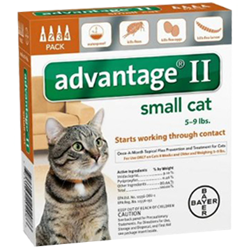 bayer advantage II pyriproxyfen flea drops for cats