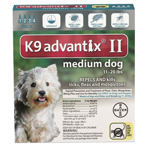 bayer advantix II pyriproxyfen flea drops for dogs