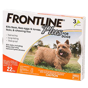 frontline plus spot on drops for dogs