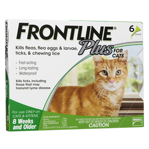 frontline plus flea drops for cats