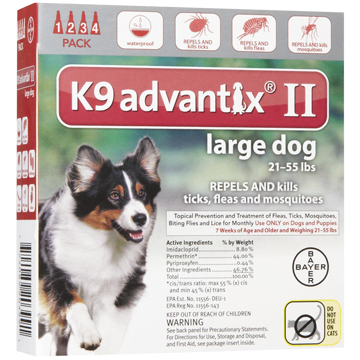 bayer K9 advantix II spot on flea drops for large dogs