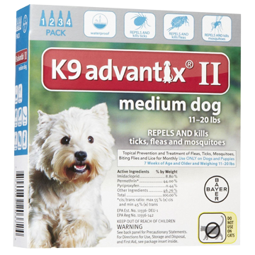 bayer K9 advantix II spot on flea drops for medium dogs