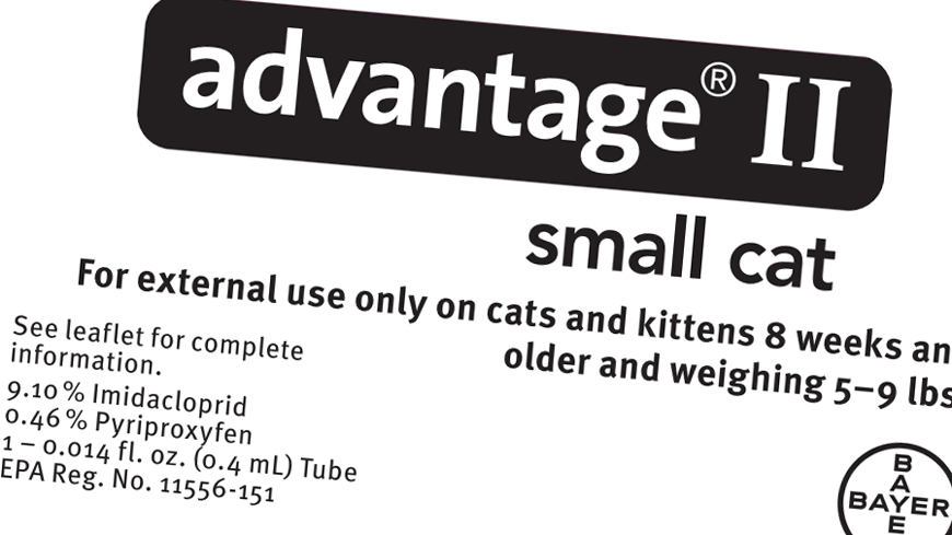 Advantage Ii For Cats Dosage